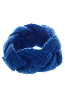 Sanwood Crochet Twist Knitted Headband Hair Band Blue