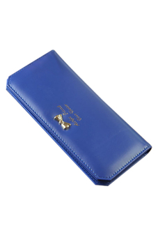 Sanwood Faux Leather Coin Purse (Sapphire Blue)