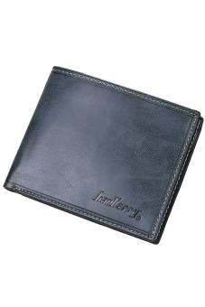Sanwood Men Bifold Faux Leather Purse Ultra-thin Clutch Blue