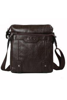 Sanwood Men's Business Faux Leather Briefcase Shoulder Bag Brown