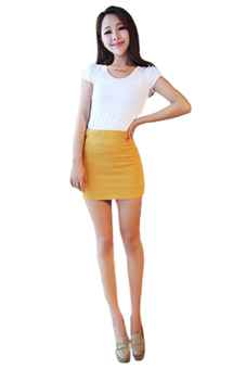 Sanwood Seamless Stretch Tight Mini Skirt Yellow - picture 2