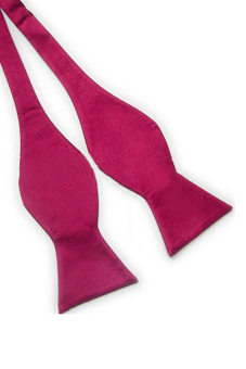 Sanwood Solid Plain Silk Self Tie Bow Tie Maroon - picture 2