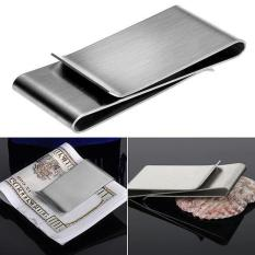 Sanwood® Stainless Steel Silver Color Slim Money Clip Purse Wallet Credit Card ID Holder - intl Philippines