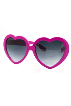 Sanwood Summer Love Heart Sunglasses Rose Red