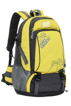 Sanwood® Unisex Travel Climbing School Bag Outdoor Backpack Yellow