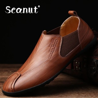 Seanut Genuine leather Slip-Ons&Loafers fashion casual shoes for men (Brown) - intl