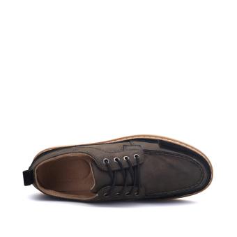 Seanut Men's Casual shoes Low Cut Shoes(Black) - 2