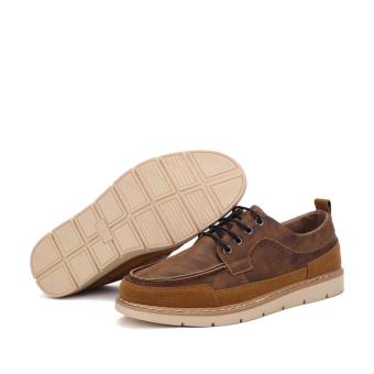 Seanut Men's Casual shoes Low Cut Shoes(Brown) - 2