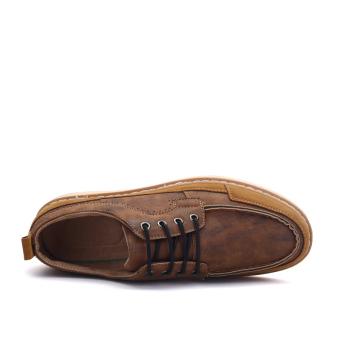 Seanut Men's Casual shoes Low Cut Shoes(Brown) - 4