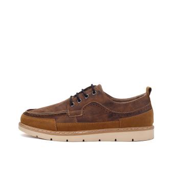 Seanut Men's Casual shoes Low Cut Shoes(Brown) - 3