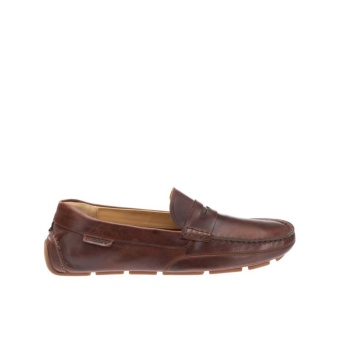 Sebago Kedge Penny Driving Shoes (Brown Oiled Waxy Leather)