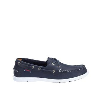 Sebago Litesides Two Eye Boat Shoe (Navy Leather)
