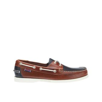 Sebago Mens Spinnaker Boat Shoes (Navy Brown Leather)