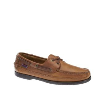 Sebago Schooner Boat Shoes (Cognac Leather) - 2