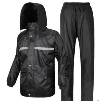 Security sanitation traffic rain pants reflective raincoat (Suit dark blue color) (Suit dark blue color)