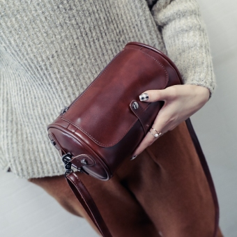 Sen Department of small round New style stereotypes bag Shishang women's bag (Deep Brown)