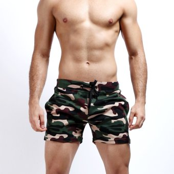 SEOBEAN Mens Summer Shorts Casual Sports Shorts Gym Boxing RunningCamouflage Shorts (Black,Size:M-XL) (Intl) Price Philippines
