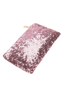 Sequins Clutch Evening Party Bag (Pink) - picture 2