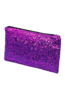 Sequins Clutch Purse (Purple)