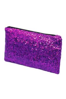 Sequins Clutch Purse (Purple)