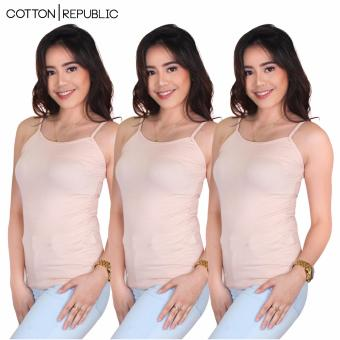 Set of 3 Fab Spaghetti Strap Inner Blouse (Cream) Price Philippines