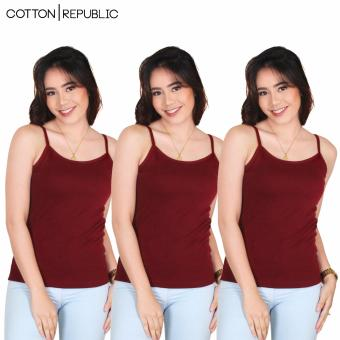 Set of 3 Fab Spaghetti Strap Inner Blouse (Maroon) Price Philippines