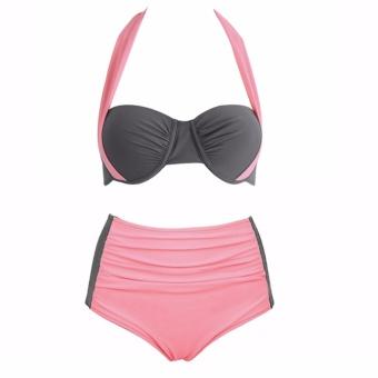 Sexy Bikini Women Swimsuit High Waist Bathing Suits Swim HalterPush-up Swimwear - intl - 2