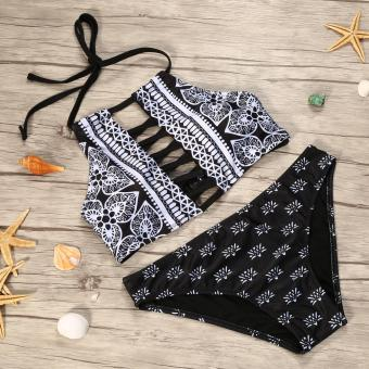 Sexy Ladies Beach Bikinis Swimming Wear Lace Bra Beachwear Suit- L- intl