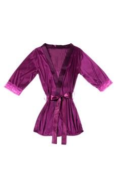 Sexy Lingerie Nightdress Night Bathrobe Gstring Purple