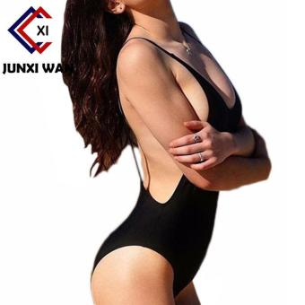 Sexy One Piece Swimsuit Backless Swimwear Women Bathing SuitSwimming Suit for Women Bodysuit Beach Wear Bikini Black - intl