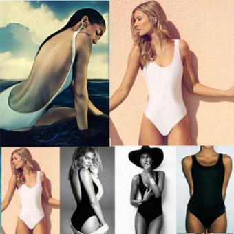 Sexy Women Backless Bikini Padded Monokini Swimwear Bikini (White) - intl - 4