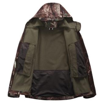 Shark Skin Soft Shell Outdoors Military Tactical Jacket WaterproofWindproof Hunter Jungle Camouflage Clothing - intl - 3