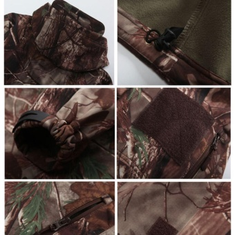 Shark Skin Soft Shell Outdoors Military Tactical Jacket WaterproofWindproof Hunter Jungle Camouflage Clothing - intl - 4