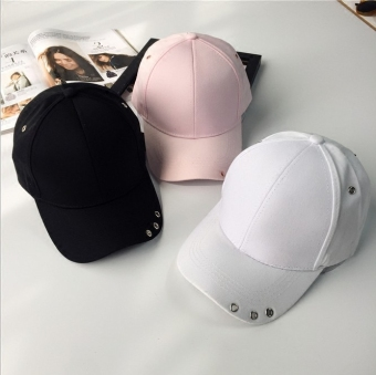SHININGSTAR female spring and summer celebrity inspired casual cap hat (Black)