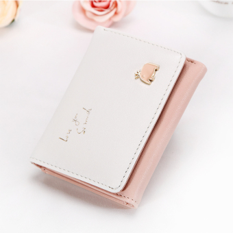 Shishang large capacity student card holder New style women's wallet (Pink)