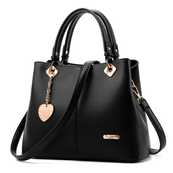 Shishang New style atmosphere women's casual women's bag (Black)