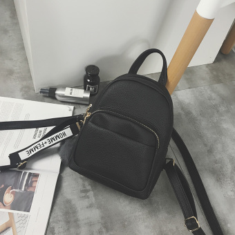 Shishang pendant mini small backpack New style women's bag (Black)