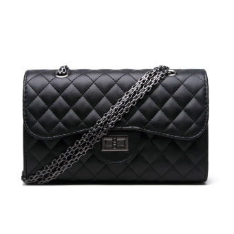Shishang spring and New style portable shoulder small bag women's bag (Silun black small tungsten steel chain)