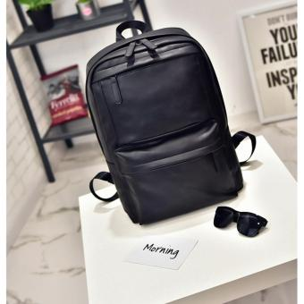 Shoulder Bag Men Backpack Computer Bag schoolbag PU Leather TravelBag