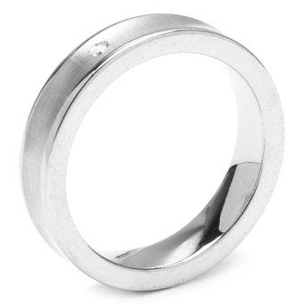Silverworks T42 Solo Diamond Ring (Black)