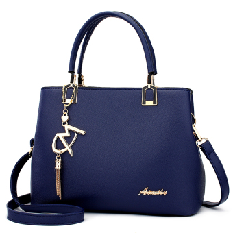 Simple female women's bag Korean-style Portable Bag (Sapphire blue color) (Sapphire blue color)