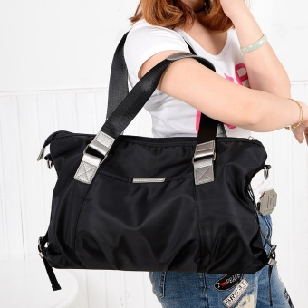 Simple nylon Oxford Cloth large bag New style women's bag (Black 1139 nylon large bag)