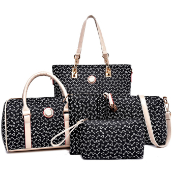 Simple women's bag different size bags (Black)