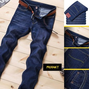 Size 28-38 Men Denim Jeans Straight Slim Male Jeans Pants FashionClassical Casual Business Style Men Ripped Jeans - 501Blue - Intl