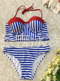 Size of the European and American New style striped Slimming effect bikini
