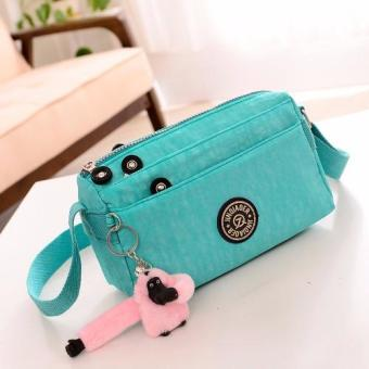 Skadi JQE-612 Korean Fashion Bag Nylon Waterproof Mini Size Multi-pocket Mini Bag Crossbody Shoulder Sling Bag Best Gift With Free Bag Charm