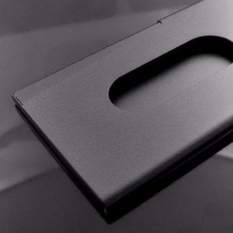 Sliding Business Credit Name Card Case Holder Wallet Black - intl - 2