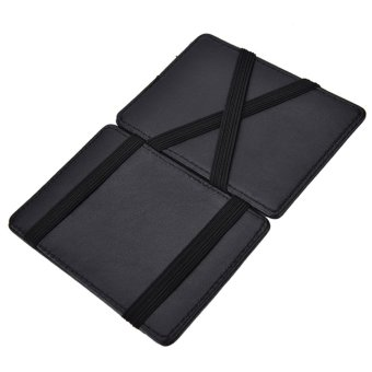 Slim Male Magic Wallet Leather Purse Men Small Wallets WomenCarteira Magica Porte Monnaie Black - intl Price Philippines