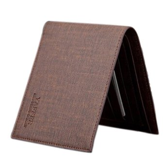 Slim Men Leather Bifold Wallet Coffee - picture 2