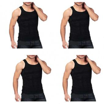 Slim N Lift Slimming Vest for Men (Black) Set of 4